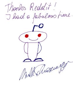 Автограф Арнольда Шварценеггера